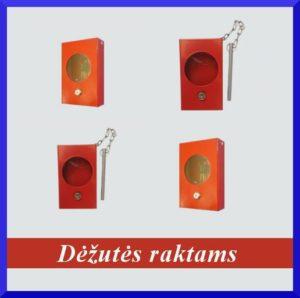 Avarinio rakto dėžutės