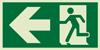 Evakuacinis išėjimas į kairę