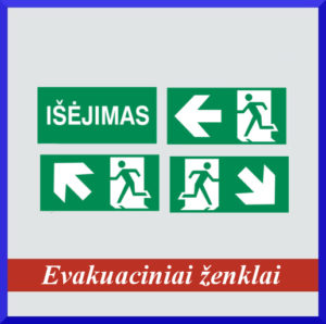 Evakuaciniai ženklai